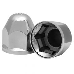 """1 1/16"""" Alcoa Chrome Plastic Lug Nut Cover"""
