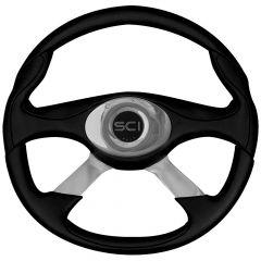 """4 Spoke Genesis Style Black Steering Wheel 18"""""""