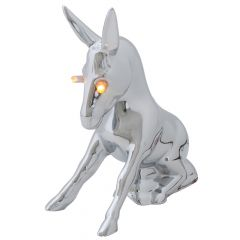 Chrome Donkey Hood Ornament LED Illuminated Eyes