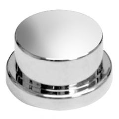 """15/16"""" or 7/8"""" Chrome Plastic Top Hat Nut Cover"""