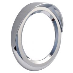 "4"" Chrome Twist-On Light Bezel with Visor"