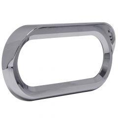 Oval Chrome Snap-On Light Bezel with Visor