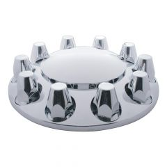 Front Chrome Axle Cover with 33mm Nut Covers
