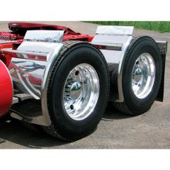 """38"""" Super Long Quarter Fender With Triangle Mount"""