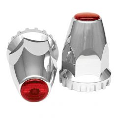 33mm Reflective Lug Nut Covers - Thread On 10PK