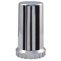 33mm Chrome Plastic Top Hat Nut Cover - Thread On