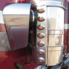 Kenworth W900, T800 Stainless Steel Air Cleaner Fairings