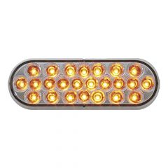 "6-1/2"" 24 LED Oval Pearl Strobe Light"