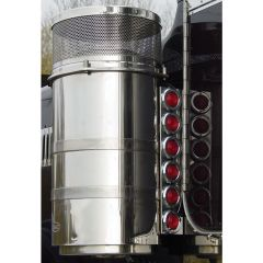"Peterbilt 15"" Donaldson/Vortox Air Cleaner Light Bars with Twelve 2"" Round LED Lights"