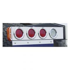 "SS Two-Piece Rear Light Bars w/4"" LED Lights"