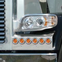 Peterbilt 388, 389 Fender Guards with LED Lights