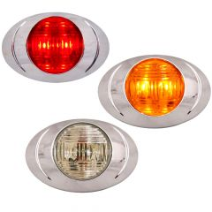 """3"""" 2 LED Magnum 3 Marker Light with Two Prong Plug"""