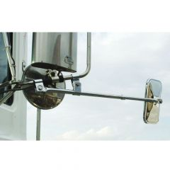 "Oversize Load Extendable Arm Flat Mirror 3/4""Dia"