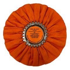"""Zephyr 10"""" Orange Ruffy Clear Dip Buffing Wheel"""