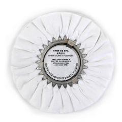 "Zephyr 8"" White Domet Flannel Buffing Wheel"