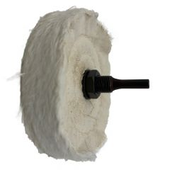 """Zephyr 4"""" White Buffing Wheel with Shank"""