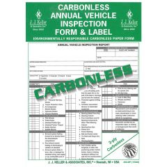 Annual Vehicle Inspection Form & Label Carbonless