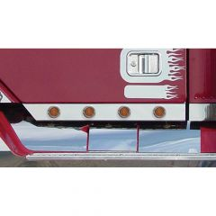 """Freightliner Cab Panels with 2"""" Round LED Lights"""