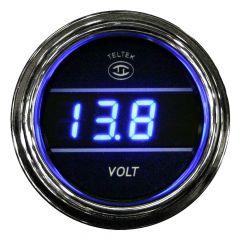 Voltmeter Gauge Blue
