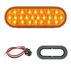 """6-1/2"""" 24 LED Oval Pearl Light with Grommet Kit"""