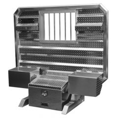 "65""x70"" Cab Rack w/Tool Box, Window & Chain Trays"