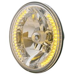 """7"""" Round Crystal Headlight with LED"""