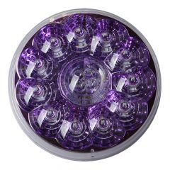 "4"" Round Designer Light Red LED/Purple Reflector"