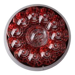 """4"""" Round Designer Light Red LED with Reflector"""