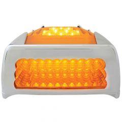 Peterbilt 30 LED Spyder Turn Signal Light with Chrome Bezel