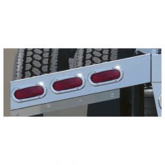 SS Angled Two-Piece Rear Light Bar Oval w/LED
