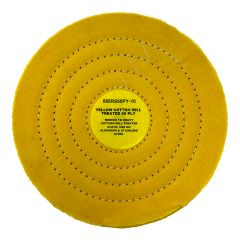 """Zephyr 10"""" Yellow Cotton 60-Ply MT Buffing Wheel"""