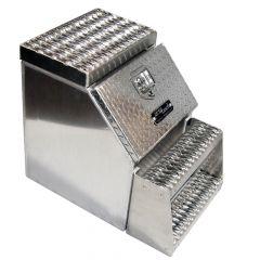 "30"" Diamond Plate Aluminum Step Box"