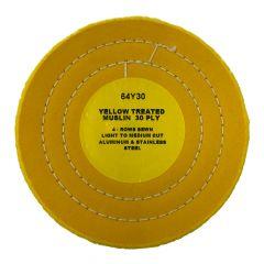 "Zephyr 6"" Yellow Treated Muslin Buffing Wheel"