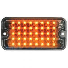 "3"" Amber/Clear 40 LED Ultra Thin Strobe Light"