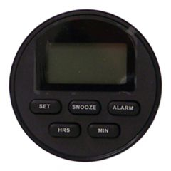 Black Digital Alarm Clock Gauge Green Illumination