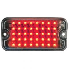 """3"""" Red/Clear 40 LED Ultra Thin Strobe Light"""