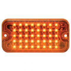 "3"" Amber 40 LED Ultra Thin 8 Flash Strobe Light"