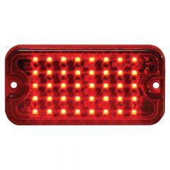 "3"" Red 40 LED Ultra Thin 8 Flash Strobe Light"