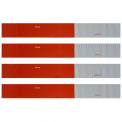 Reflective Red/White Conspicuity Tape Set 4PK
