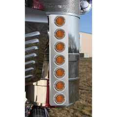 """Kenworth Front Air Cleaner Light Bars with 2"""" LEDs"""