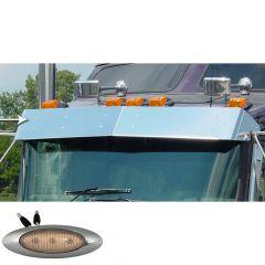 "Kenworth 10"" Drop Visor with M5 Amber/Clear LED Lights"