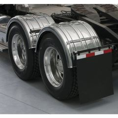 Chrome Poly Single Axle TT Twin Fenders