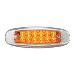"""6-1/4"""" 12 LED 24 Volt Spyder Marker Light"""