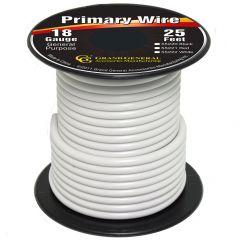 18 Gauge White Wire 25 Feet
