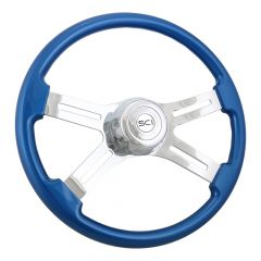 4 Spoke Painted Wood Steering Wheels 18""