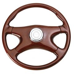 4 Spoke All Wood Steering Wheel 18""
