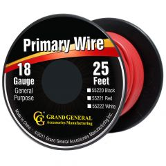 18 Gauge Red Wire 25 Feet