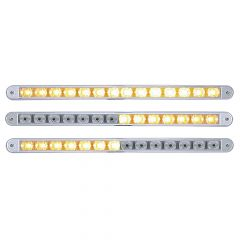 """12"""" Amber/Clear 14 LED Warning Light with Bezel"""