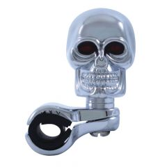 Chrome Skull Steering Wheel Spinner