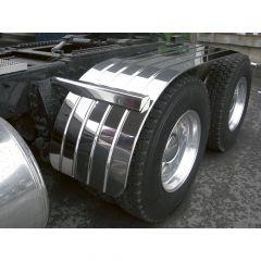 """66"""" Ribbed Stainless Steel Half Tandem Fenders"""